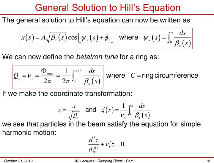 General Solution to Hill's Equation
