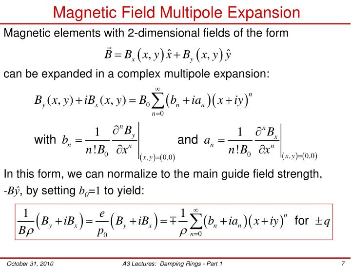 Magnetic Field Multipole Expansion