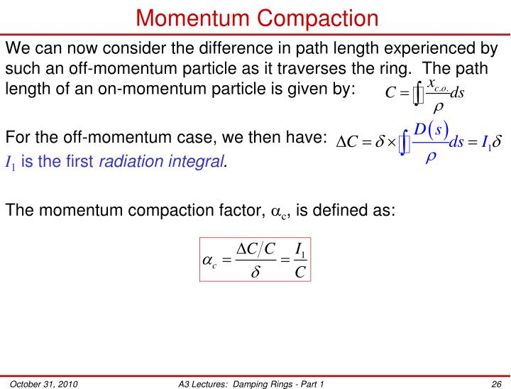 Momentum Compaction