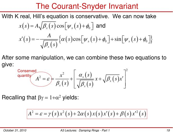 The Courant-Snyder Invariant