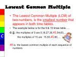 lowest common multiple