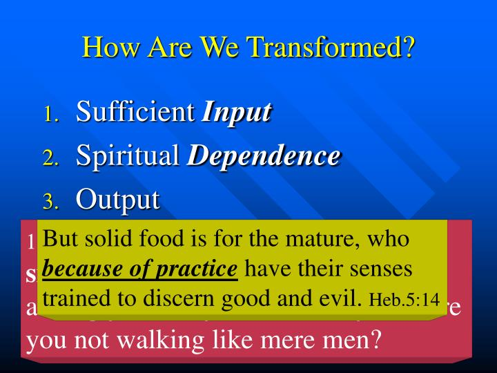 How Are We Transformed?
