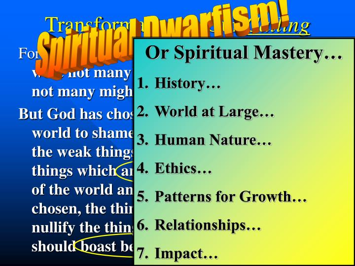 Spiritual Dwarfism!