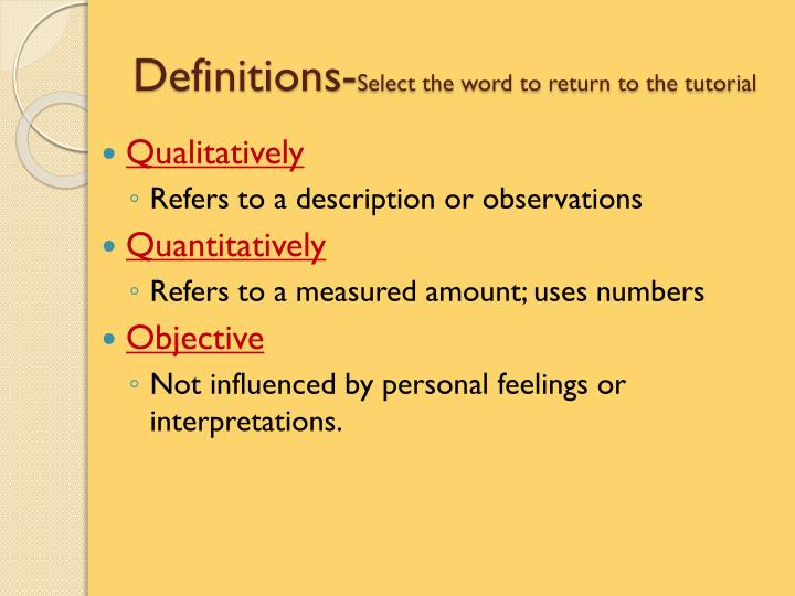 Definitions-