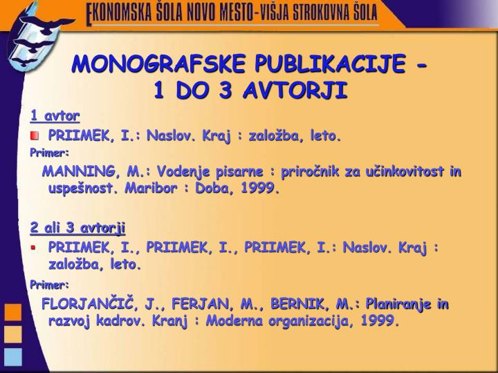 MONOGRAFSKE PUBLIKACIJE -