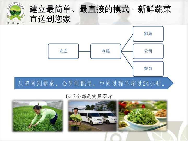 建立最简单、最直接的模式--新鲜蔬菜直送到您家