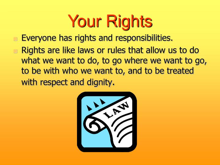 what rights responsibilities do teenagers Sexual rights explanations the right to make your own decisions about being sexual (or not), regardless of your partner's wishes this means that you can choose not to be sexual, even if your partner would like you to be sexual.