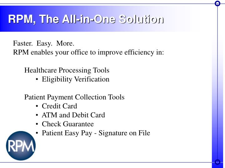 Rpm the all in one solution