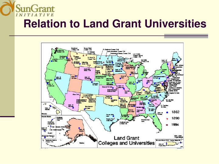 Relation to Land Grant Universities