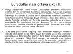 eurodollar nas l ortaya kt ii