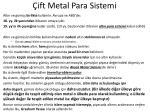 ift metal para sistemi