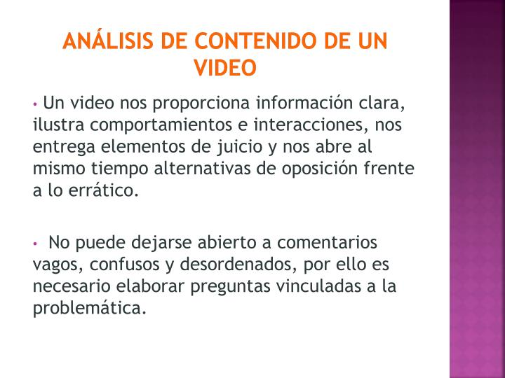 ANÁLISIS DE CONTENIDO DE UN VIDEO