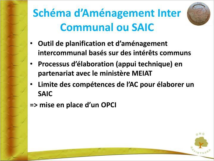 Schéma d'Aménagement Inter Communal ou