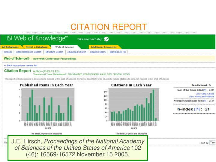 CITATION REPORT