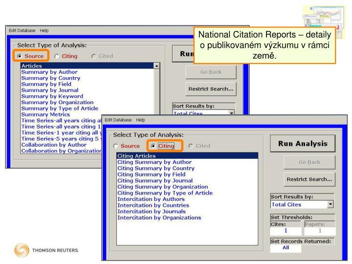National Citation Reports –