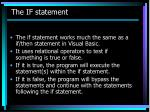 the if statement