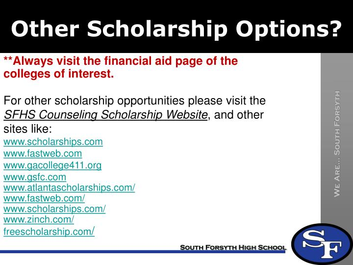 Other Scholarship Options?