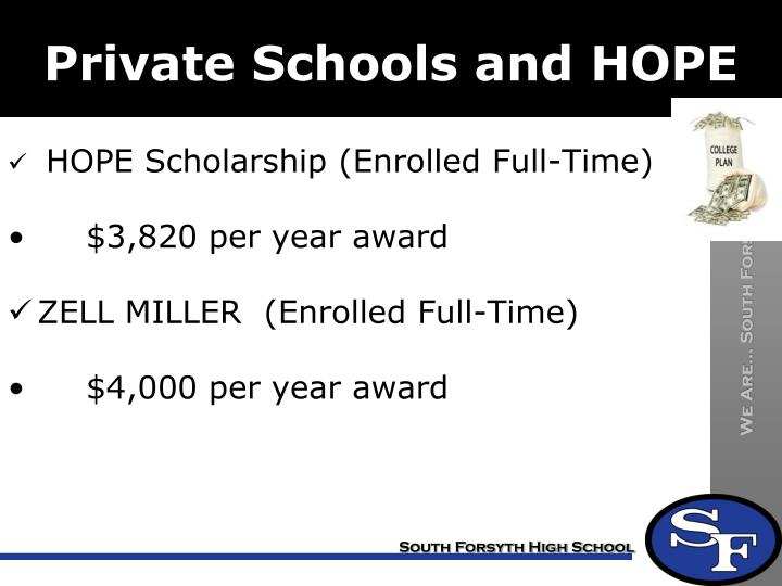 Private Schools and HOPE