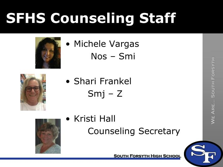 SFHS Counseling Staff