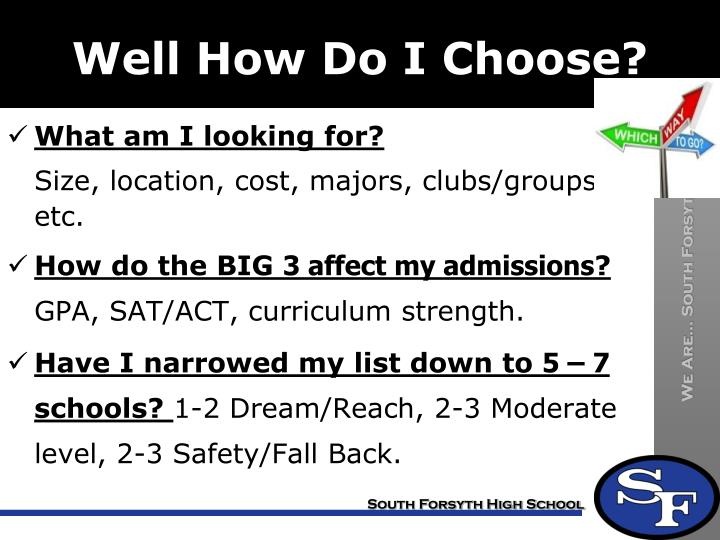 Well How Do I Choose?