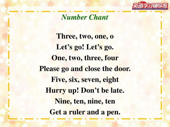 Number Chant