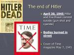 the end of hitler