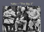 yalta the big 3