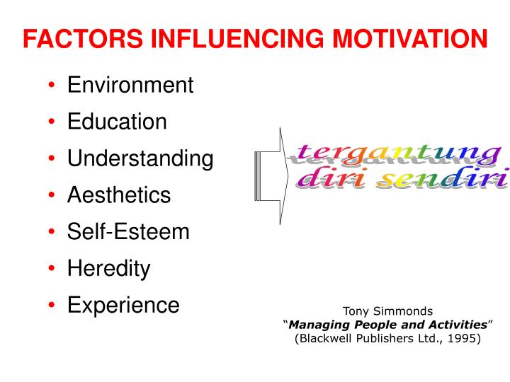 FACTORS INFLUENCING MOTIVATION