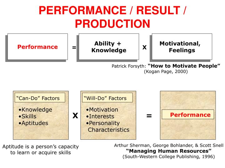 PERFORMANCE / RESULT /