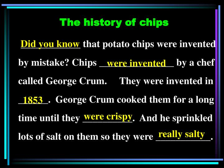 The history of chips