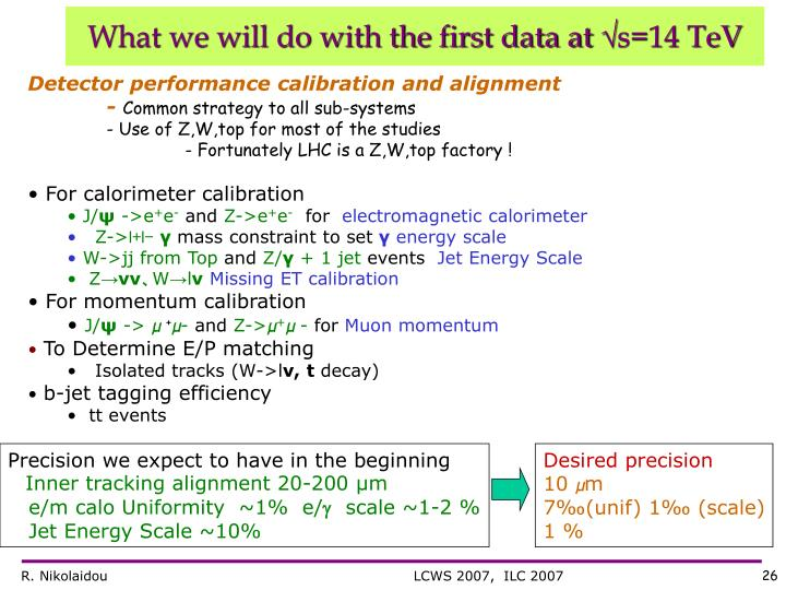 What we will do with the first data at
