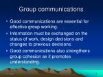 group communications
