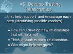 5 develop trusting relationships