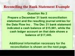 reconciling the bank statement example2