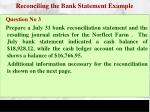 reconciling the bank statement example3