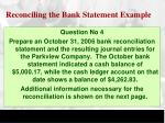 reconciling the bank statement example4