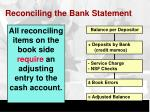 reconciling the bank statement1