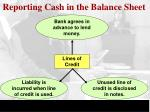 reporting cash in the balance sheet2