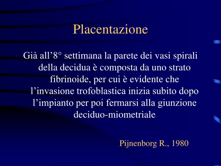 Placentazione