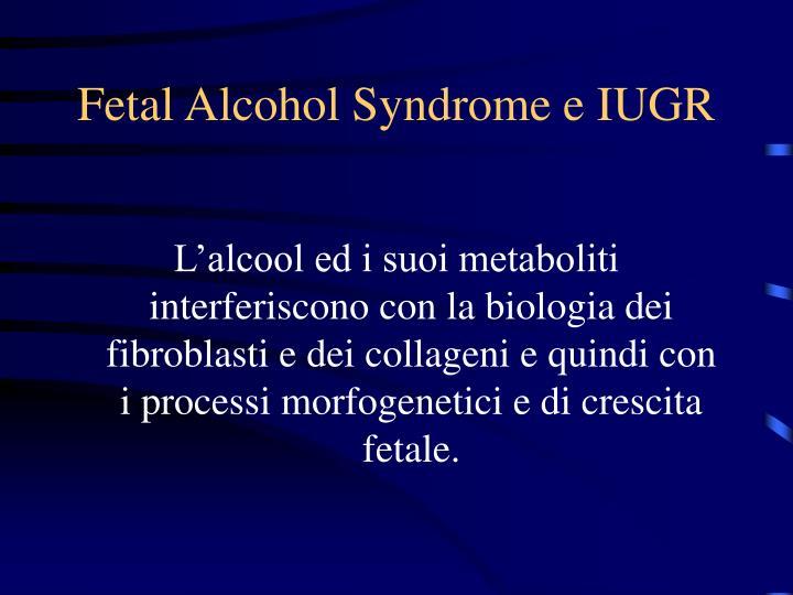 Fetal Alcohol Syndrome e IUGR