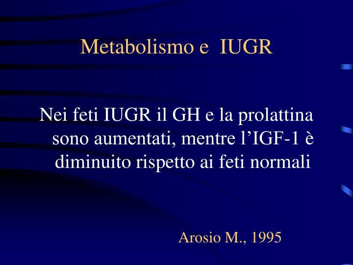 Metabolismo e  IUGR