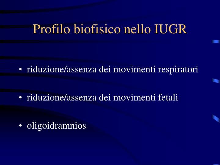 Profilo biofisico nello IUGR