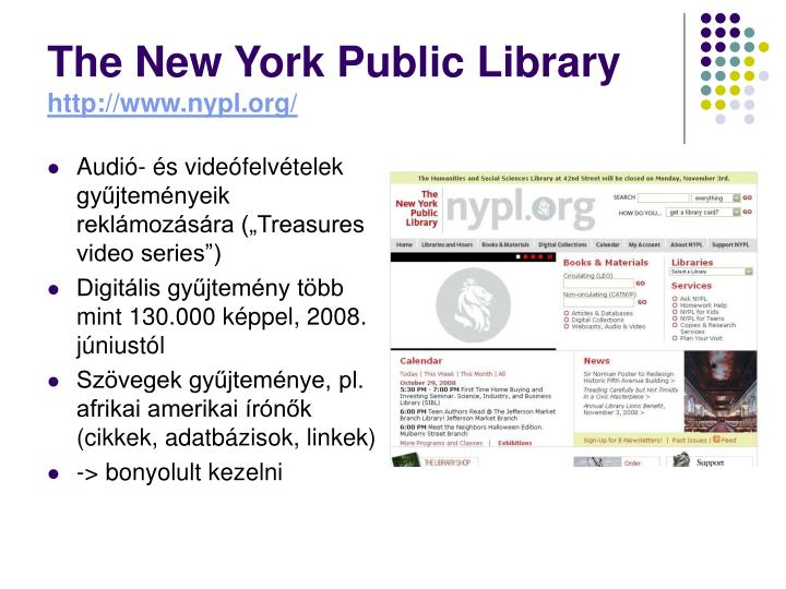 PPT - Könyvtári honlapok, blogok - Új fejlesztések ...