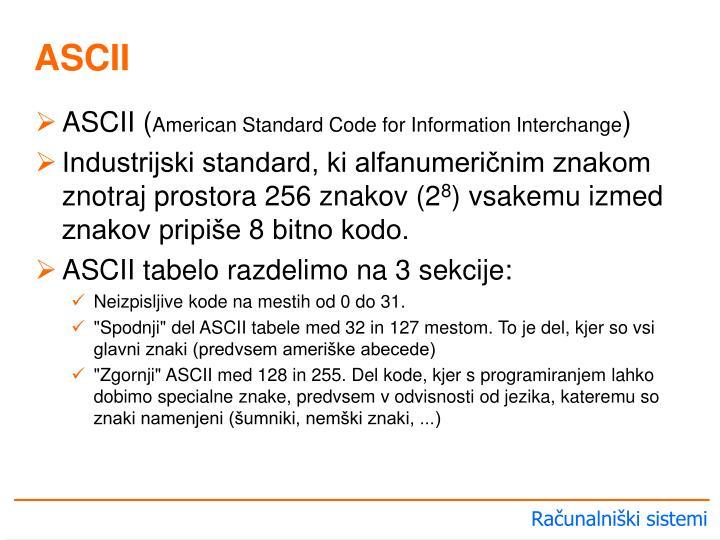 ASCII (