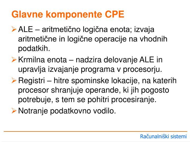 Glavne komponente CPE
