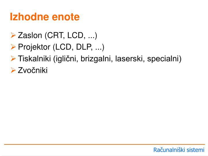 Zaslon (CRT, LCD, ...)