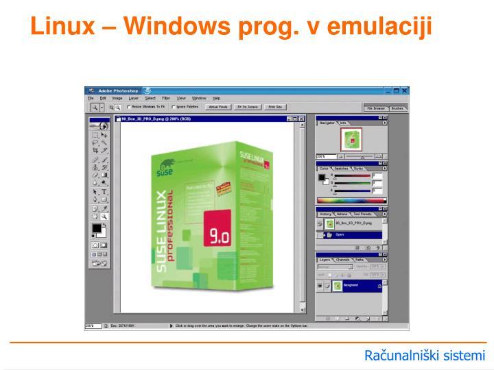 Linux – Windows prog. v emulaciji