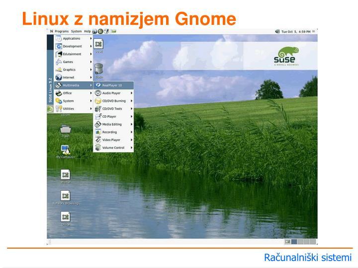 Linux z namizjem Gnome