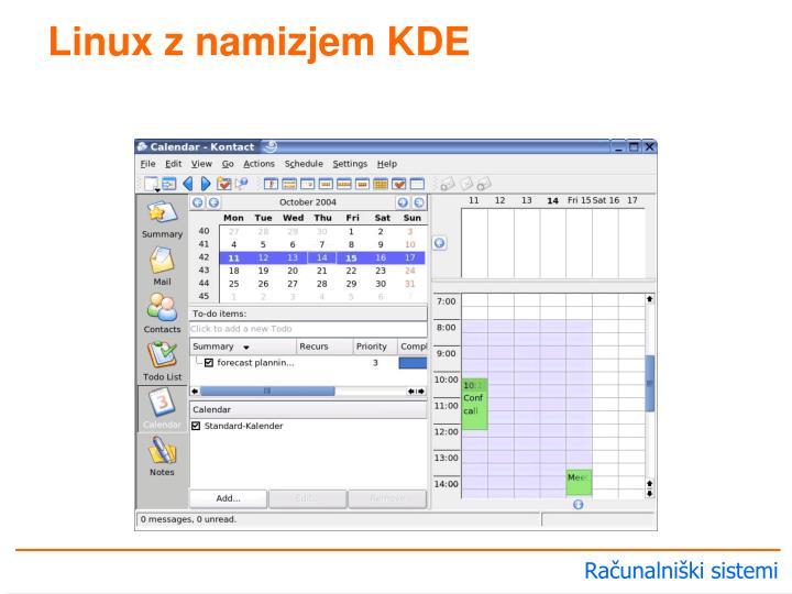 Linux z namizjem KDE
