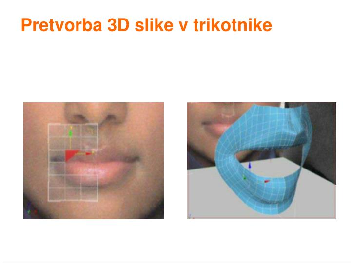 Pretvorba 3D slike v trikotnike